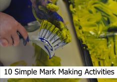 There are many resources out there available to purchase to help with mark making, however, try these 10 simple mark making activities for younger children Jungle Activities, Eyfs Activities, Creative Activities, Mark Making Early Years, Drawing Games For Kids, Writing Area, Expressive Art, Nail Brushes, Early Childhood Education