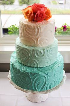 ombre blue cake / kori's wedding / reality and retrospect