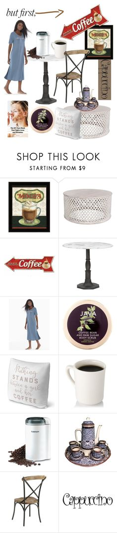 """But first, Coffee☕️"" by mdfletch ❤ liked on Polyvore featuring Soma, Java, Cuisinart, Royal Worcester, Pier 1 Imports and coffeebreak"