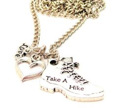 Hey, I found this really awesome Etsy listing at https://www.etsy.com/listing/130910613/take-a-hike-hiking-boot-necklace
