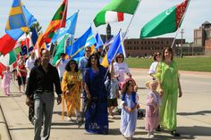 Celebrate with the Festival of Cultures parade, 5K, and festival in Falls Park West every June | Visit Sioux Falls