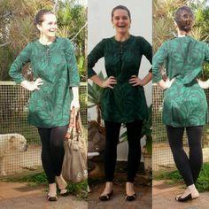 blog v@ LOOKS | por leila diniz: vestido customizado hering + legging lupo preta