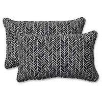 Pillow Perfect Herringbone Indoor / Outdoor Rectangular Throw Pillow - Set of 2 Black - 609805 Pillow Fabric, Lumbar Pillow, Outdoor Cushions, Outdoor Throw Pillows, 5 W, Perfect Pillow, Herringbone Pattern, Throw Pillow Sets, Trendy Plus Size