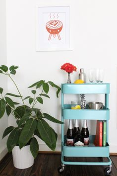 love this ikea cart! Is there anything it can't do? DIY // budget friendly bar cart