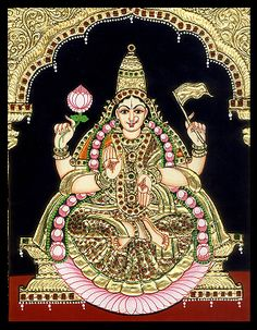 Tanjore painting of Lakshmi