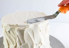 Smoothing the Top of a Cake