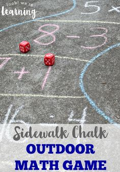 Get the kids outside and reinforce basic arithmetic with this sidewalk chalk outdoor math game! Awesome for active learners!