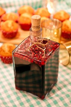 Lingonglögg ~ Mulled and spiced Wine with Lingonberries