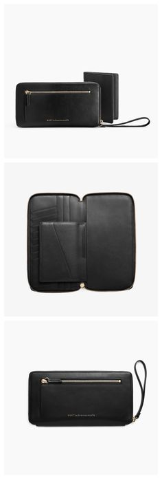 WANT Les Essentiels Liberty Set (travel zip wallet & passport cover) Zip Wallet, Zip Around Wallet, Slg, Passport Cover, Leather Wallets, Small Leather Goods, Luxury Designer, Leather Accessories, Travel Essentials