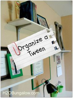 Organize a Tween Room and Get Rid of Clutter- before the holiday guests arrive