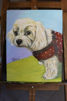 Your favorite Pet - Painted with their personality and characteristics. To enquire about ordering Pop Realism Portrait Painting please contact me: liia@liiart.com.au or www.facebook.com/liiareinvaliart   Photo required via email