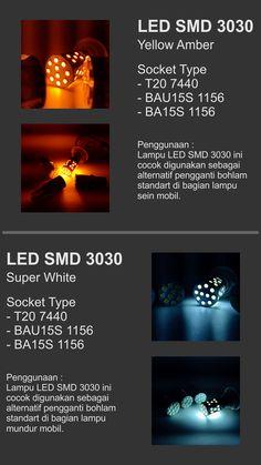 Lampu LED khusus mobil 12V menggunakan chip SMD 3030 premium.  Cahaya jauh lebih terang dari bohlam pijar standar dengan daya yang sama.