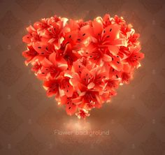 Beautiful Flower Hear Vector for your Valentine!