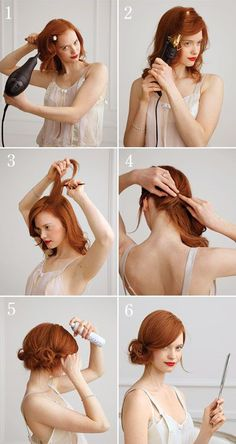 The side chignon is super cute, and super do-able with this… | Spark | eHow.com