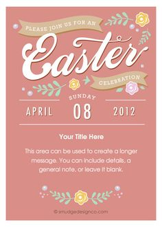 Two sided easter invitation too cute hoppin down the bunny easter celebration reneepulve pingg smudgedesignco stopboris Gallery