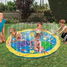Looking for some backyard fun for the littles? This Sprinkle & Splash Pad is perfect for fun in the sun. The splash pad is a soft cushion with little holes surrounding the edges that spray smal…