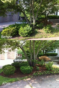 Flower installation, mulching and hedge trimming for a home in West Bloomfield, Michigan. Affordable landscaping for every home is our promise! Go to www.LandscapeSolutionsMI.com for more pictures!
