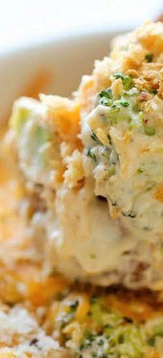 Baked Broccoli Parmesan Dip -