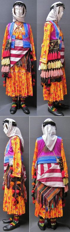 Traditional festive costume from the Şalpazarı district (70 km west of Trabzon).  In the fashion of the late 1980s.  Ethnic group: Çepni Türkleri.  (Kavak Costume Collection - Antwerpen/Belgium).