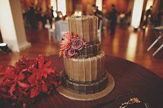 Chocolate Wedding Cake. Brown Wedding Cake by Sweet Surrender, Louisville, KY