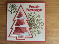 Cross Stitch Tree, Mini Cross Stitch, Cross Stitch Cards, Cross Stitch Patterns, Christmas Cards, Xmas, Christmas Tree, Marianne Design, Card Patterns
