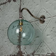 Simple fishbowl pendant in clear glass. Hang in clusters, in straight lines or use as a wall light. Pooky Lighting, Fishbowl, Straight Lines, Clear Glass, Antique Silver, Wall Lights, House Design, Elegant, Antiques