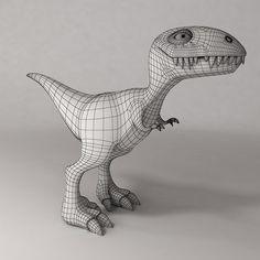 maya dinosaur cartoon - Cartoon Dinosaur... by 3dsam79