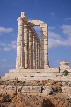 Temple of Poseidon in Athens, Greece