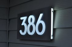"Custom Aluminum & Acrylic LED House Numbers Sign. 5"" Tall Numbers! Lights Up Automatically! Low Voltage and Low Power! Low Profile! by GlowSigns on Etsy https://www.etsy.com/listing/242169224/custom-aluminum-acrylic-led-house"