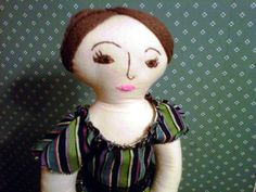 Jane Eyre Inspired Rag Doll by SockPunky on Etsy, $30.00