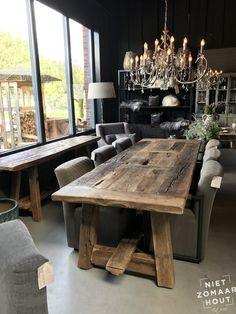 Old oak table Jumbo Really old oak table is unique in its kind. Old oak table Jumbo Really old oak table is unique in its kind. Furthermore, this table is equipped with only the most beautiful, really old and solid. Cottage Dining Rooms, Living Room Decor Country, Dining Room Sets, Dining Room Table, Unique Dining Tables, Square Dining Tables, Rustic Wooden Table, Oak Table, Rustic Furniture
