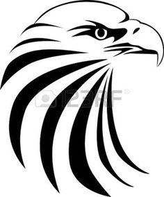 dessin tribal: Aigle tête de tatouage