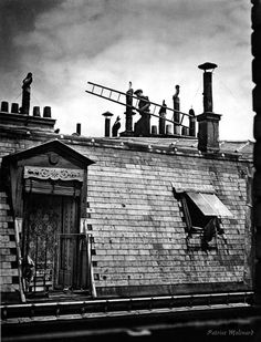 The chimney sweepers at work, photographed by Patrice Molinard, Paris, 1950s.