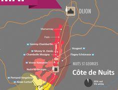Côte de Nuits Wine Map