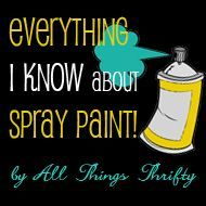 Excellent tutorial for Spray Painting vs Brush Painting furniture, crafts,etc. Her experience and tips are outstanding