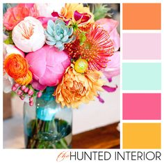 Loving these colors! Come see how I am turning this beautiful bouquet into a room! http://thehuntedinterior.blogspot.com/2012/01/chloes-room-bringing-colors-to-life.html