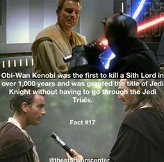 Star Wars Facts: Yeah, except he didn't kill Maul. Star Wars Jokes, Star Wars Facts, Prequel Memes, Star Wars Images, Star Wars Baby, Star Wars Clone Wars, Love Stars, Fun Facts, At Least