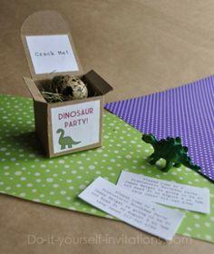 Dino-uitnodiging (verjaardag jongens)