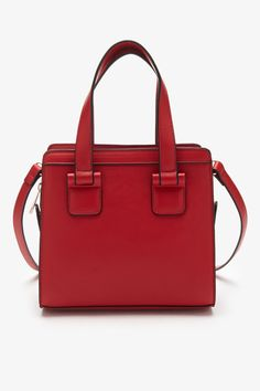 Long Strap Faux Leather Satchel, $27.90;  Forever 21.   - Redbook.com