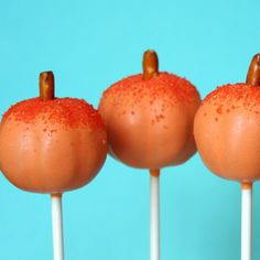 12 Autumn Acorn Cake Pops - perfect for Fall, Halloween, or Thanksgiving. $36.00, via Etsy.