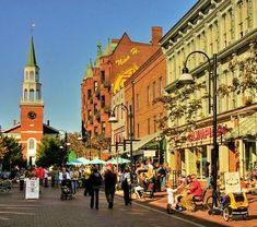 Burlington, Vermont. pic of church st, Burlington vt