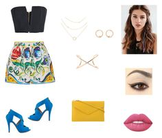 """""""Untitled #60"""" by pippadonaven on Polyvore featuring Dolce&Gabbana, Balmain, Michael Antonio, PUR, Lime Crime, REGALROSE and Roberto Marroni"""