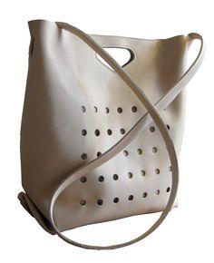 handmade sand colour leather bag. €365,00, via Etsy.
