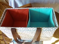 Use fabric bins found at your nearest retail location to organize your Large Utility Tote the31diva@gmail.com