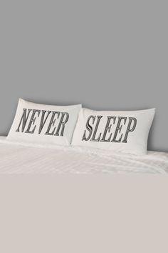 Rise and Fall Never Sleep Pillowcase Set