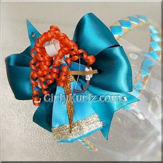 Brave Merida Headband Brave Merida Ribbon Sculpture por GirlyKurlz