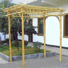 Rectangle bamboo pergola