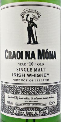 Craoi Na Mona Irish Single Malt Whiskey 10 year old 46% 70cl - The Specialist Whisky Shop - whiskys.co.uk