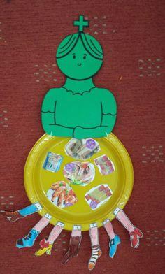 Σήμερα μιλήσαμε για τη Σαρακοστή, τα σαρακοστιανά φαγητά και έθιμα - νηστεία και εκκλησιασμός, προσπάθεια να είμαστε εγκρατείς και να... Carnival Crafts, Bible Activities For Kids, School Carnival, Holy Week, Easter Crafts For Kids, School Projects, Party Time, Art For Kids, Arts And Crafts