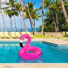 Transform your backyard party into a tropical oasis with this fantastic water fowl. A must-have summer and luau pool toy, our Pink Flamingo Pool Float is ready for lazy days in the pool. The bright co
